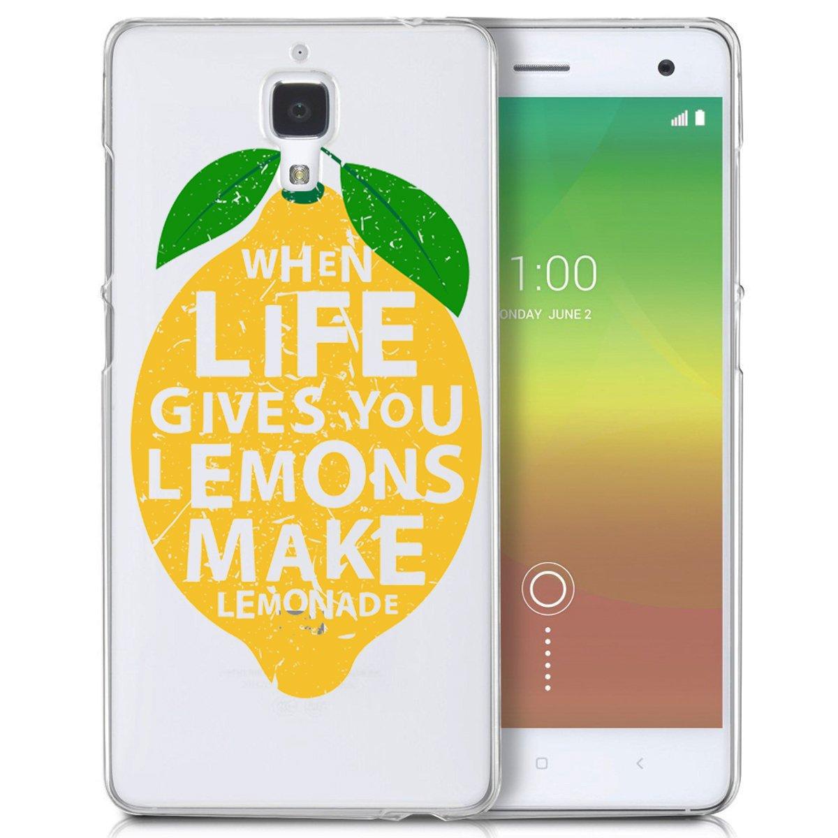 april Funda Carcasa TPU Transparente para Xiaomi Mi4 diseño ...