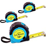 Where's My Tape Measure? - 10ft Tape Measure Retractable (3 Pack) Tape Measure with Fractions - Locking Small Measuring Tape