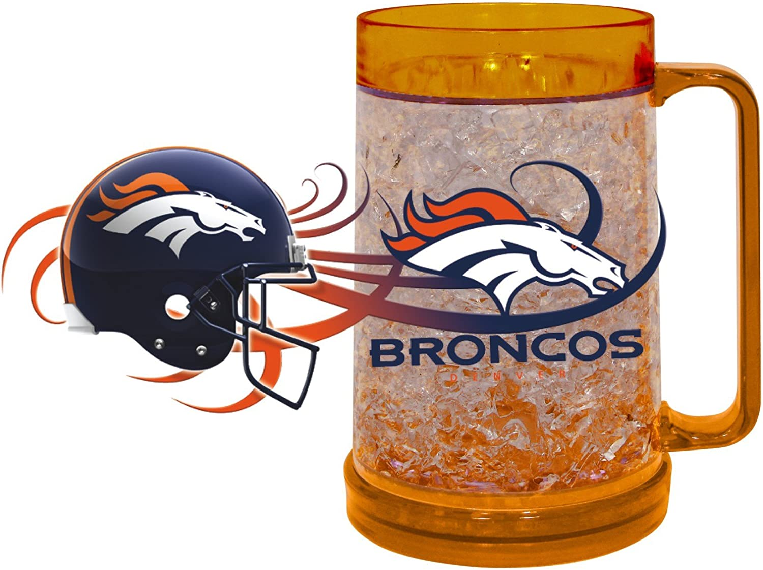 HUNTER NFL Denver Broncos Freezer Mug (16-Ounce), Large, Orange
