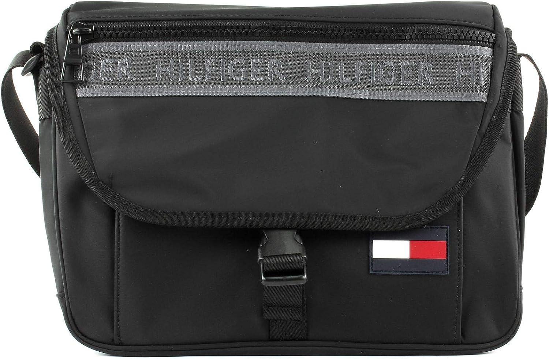 Black Tommy Hilfiger Sport Mix Messenger Noir Portefeuilles homme 1x1x1 cm W x H L