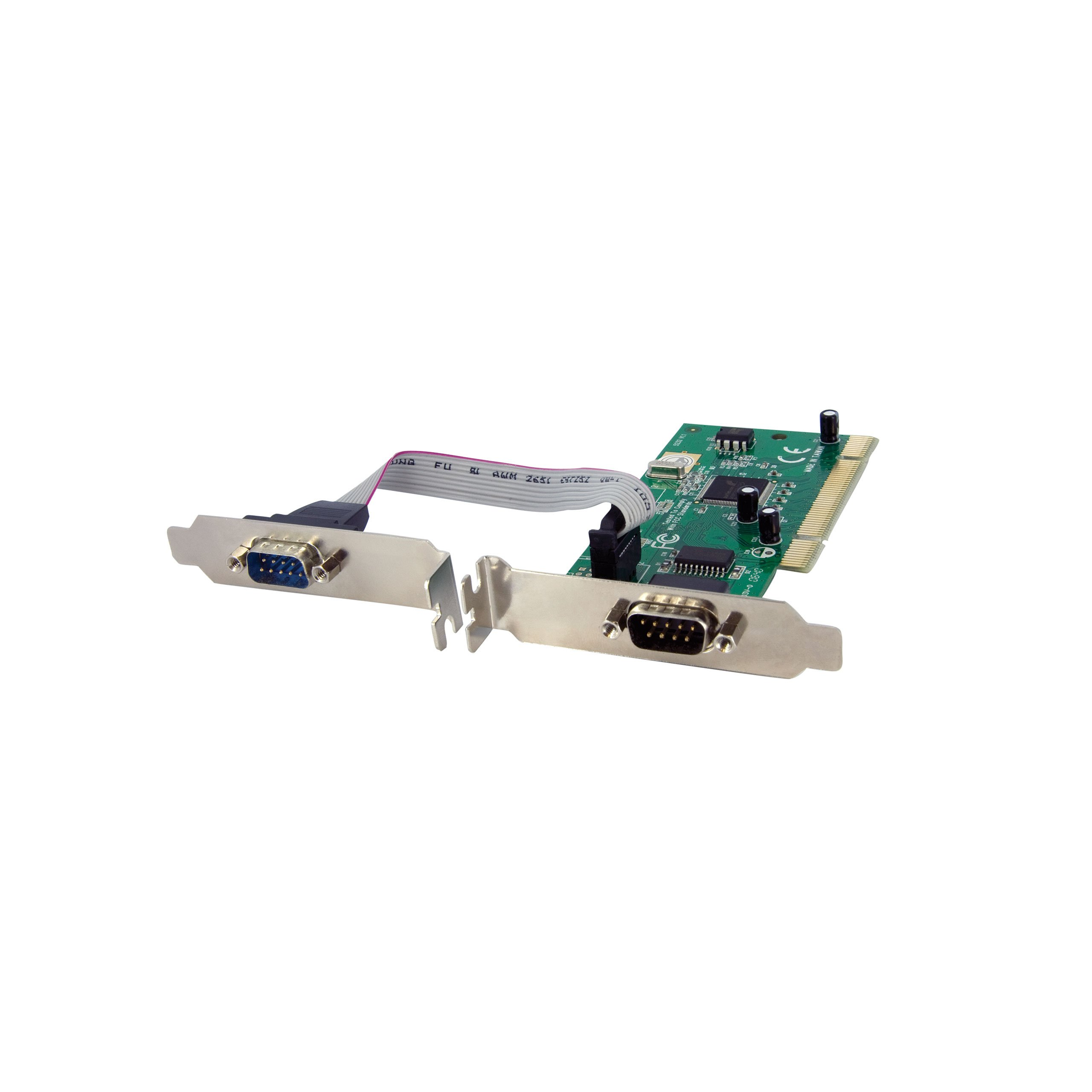 StarTech.com 2 Port PCI RS232 Serial Adapter Card with 16950 UART - Dual Voltage (PCI2S950DV)