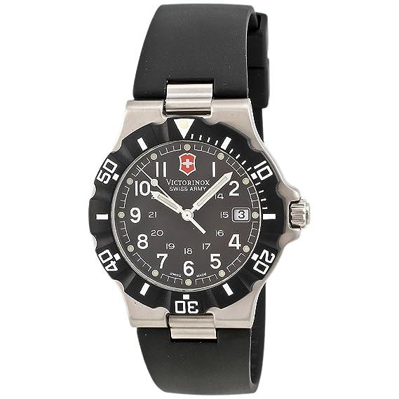 Victorinox 24001 - Reloj de pulsera hombre, Caucho, color Negro: Amazon.es: Relojes