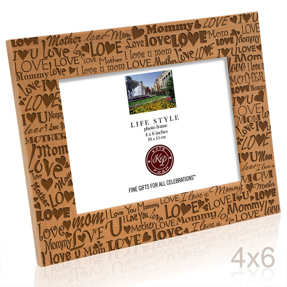 Kate Posh - I Love You Mom, Mother, Mommy Picture Frame (4x6 Horizontal) by Kate Posh (Image #3)