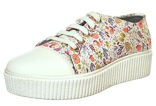Buy Khadims Women's White Sneakers-3 UK