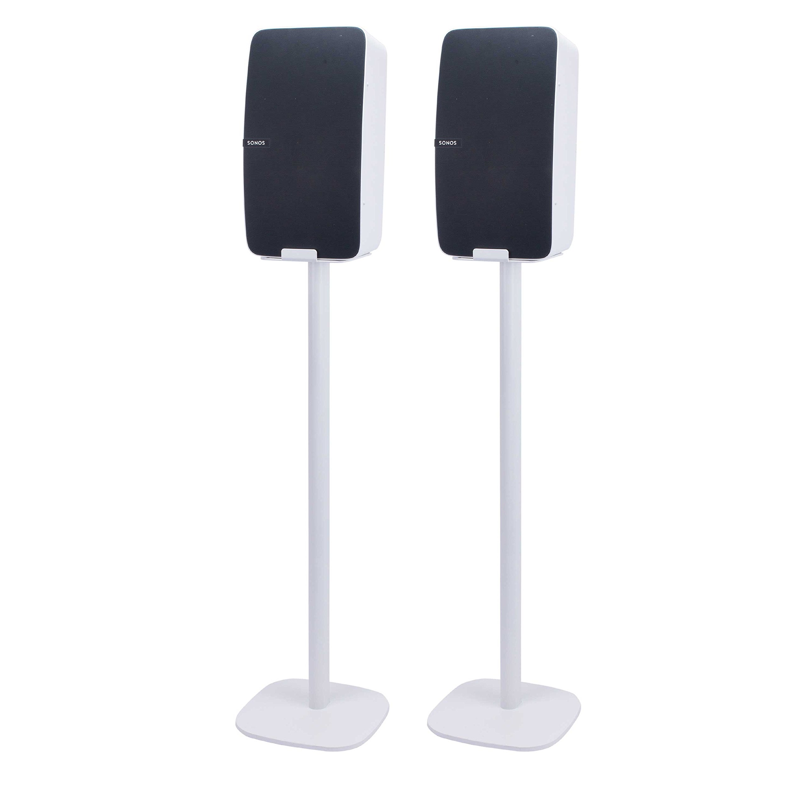 Vebos floor stand Sonos Play 5 gen 2 white set - vertical en optimal experience in every room - Allows you to place your SONOS PLAY 5 exactly where you want it - Two years warranty