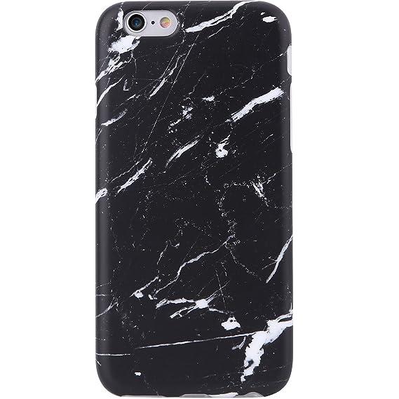 official photos c5162 e83c7 iPhone 6 Case, iPhone 6s Case,VIVIBIN Cute Black Marble for Men Women Girls  Clear Bumper Best Protective Soft Silicone Rubber Matte TPU Cover Slim Fit  ...