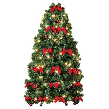 Image Unavailable. Image not available for. Color: Lighted Evergreen Christmas  Tree Hanging Wall ... - Amazon.com: Lighted Evergreen Christmas Tree Hanging Wall Decoration