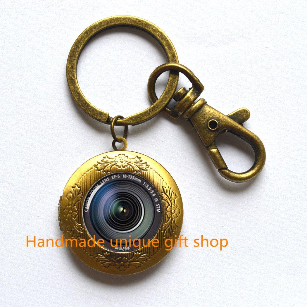 Diseño de camafeo llavero, Simple Locket llavero, cámara ...