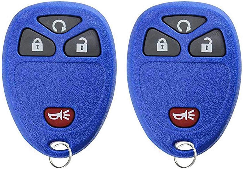 2 PACK For 05-11 Buick Chevy Pontiac Saturn Keyless Entry Remote Key Fob 4btn 15114374 KOBGT04A