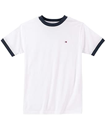 3949918c TOMMY HILFIGER Big Boys' Core Crew Neck Ken Tee, Classic White, Small (