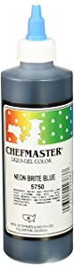 Chefmaster Liqua-Gel Food Color, 10.5-Ounce, Neon Brite Blue