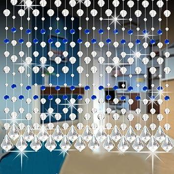 Hunpta Kristall Glasperle Vorhang Luxus Wohnzimmer Schlafzimmer Fenster Tür  Hochzeit Dekor (A)