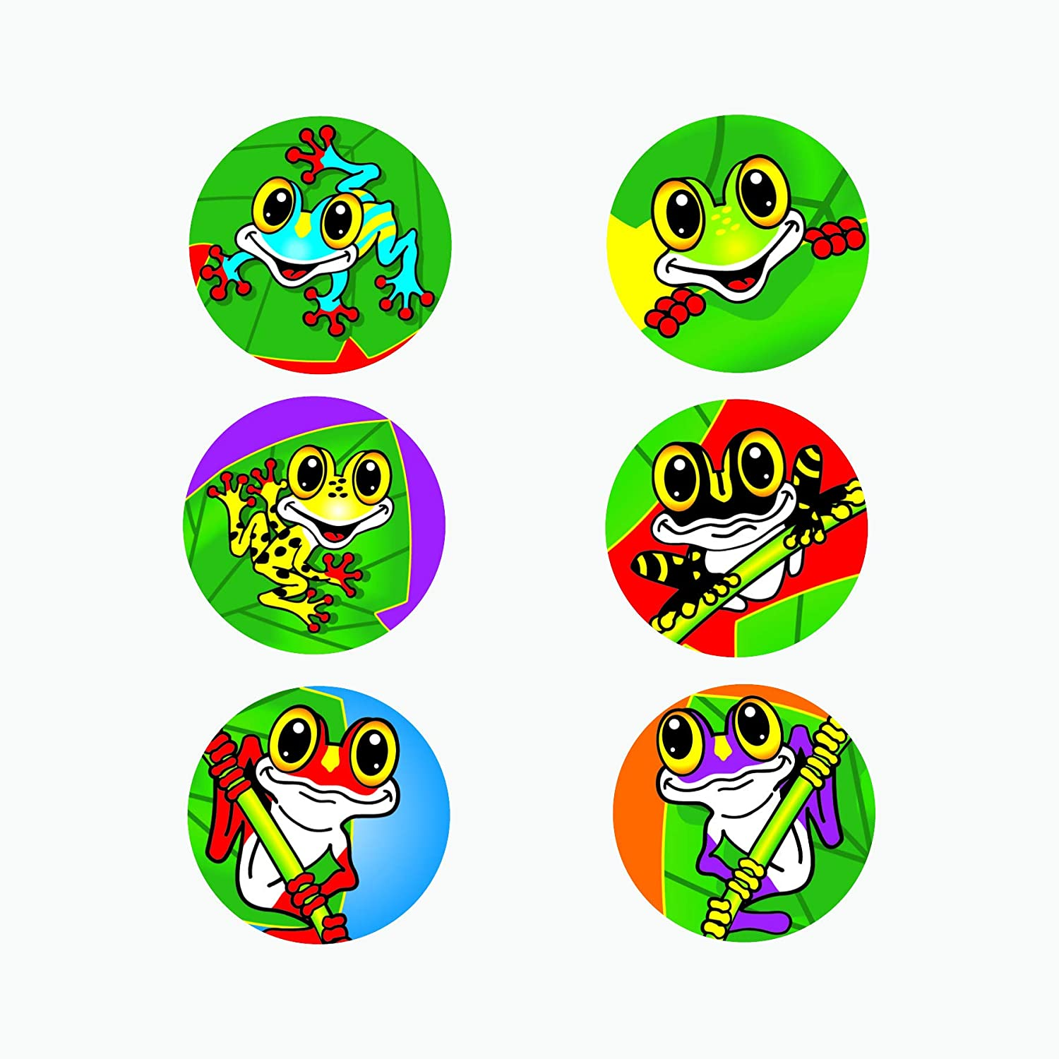 3 New sheets MINI Tropical FROGS Scrapbook Stickers!