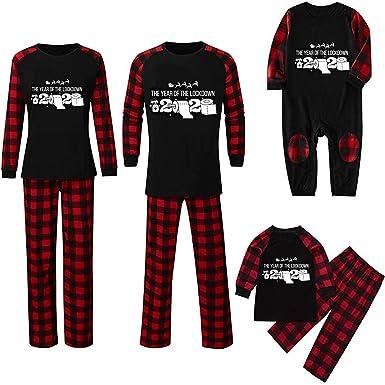 Hunpta - Conjunto de pijama a juego para familia, pijamas ...