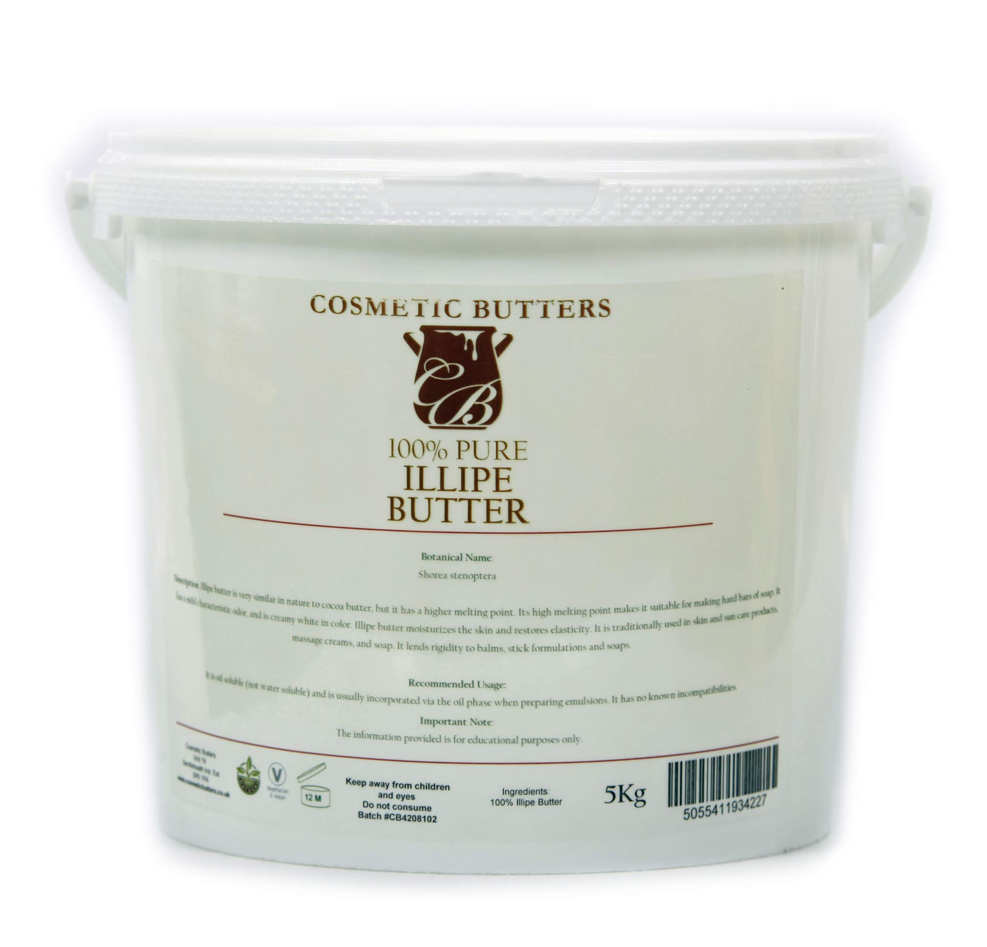 Mystic Moments Illipe Butter - 100% Pure and Natural - 5Kg