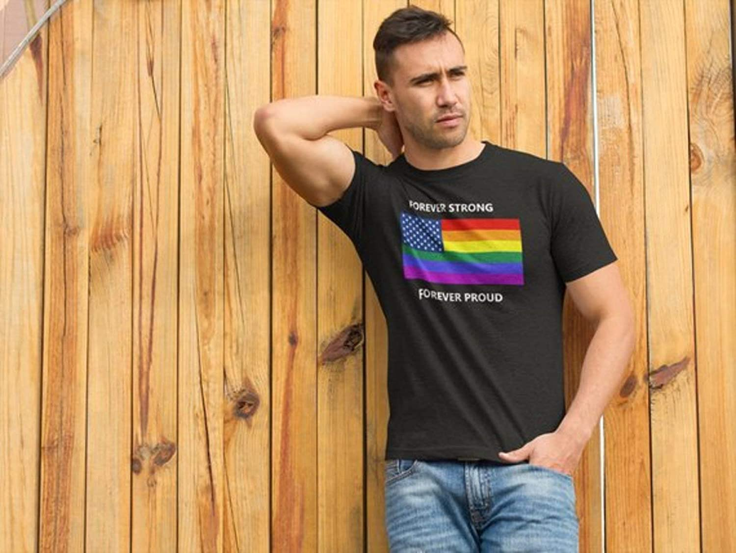 International Pride Forever Strong LGBT Rainbow Flag Forever Proud Gay Pride Unisex T-Shirt