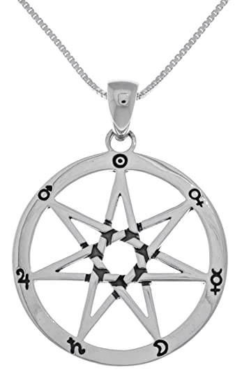 Amazon jewelry trends sterling silver seven point fairy star jewelry trends sterling silver seven point fairy star heptagram pendant on 18 inch box chain necklace aloadofball Gallery