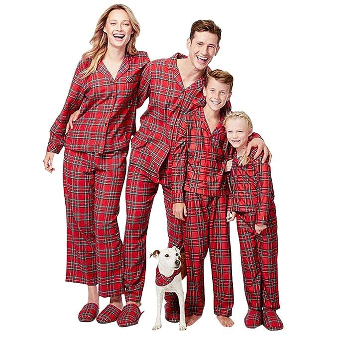 neuer Stil von 2019 so billig gute Qualität Loralirando Familie Schlafanzug Kariert Pyjama Weihnachten ...