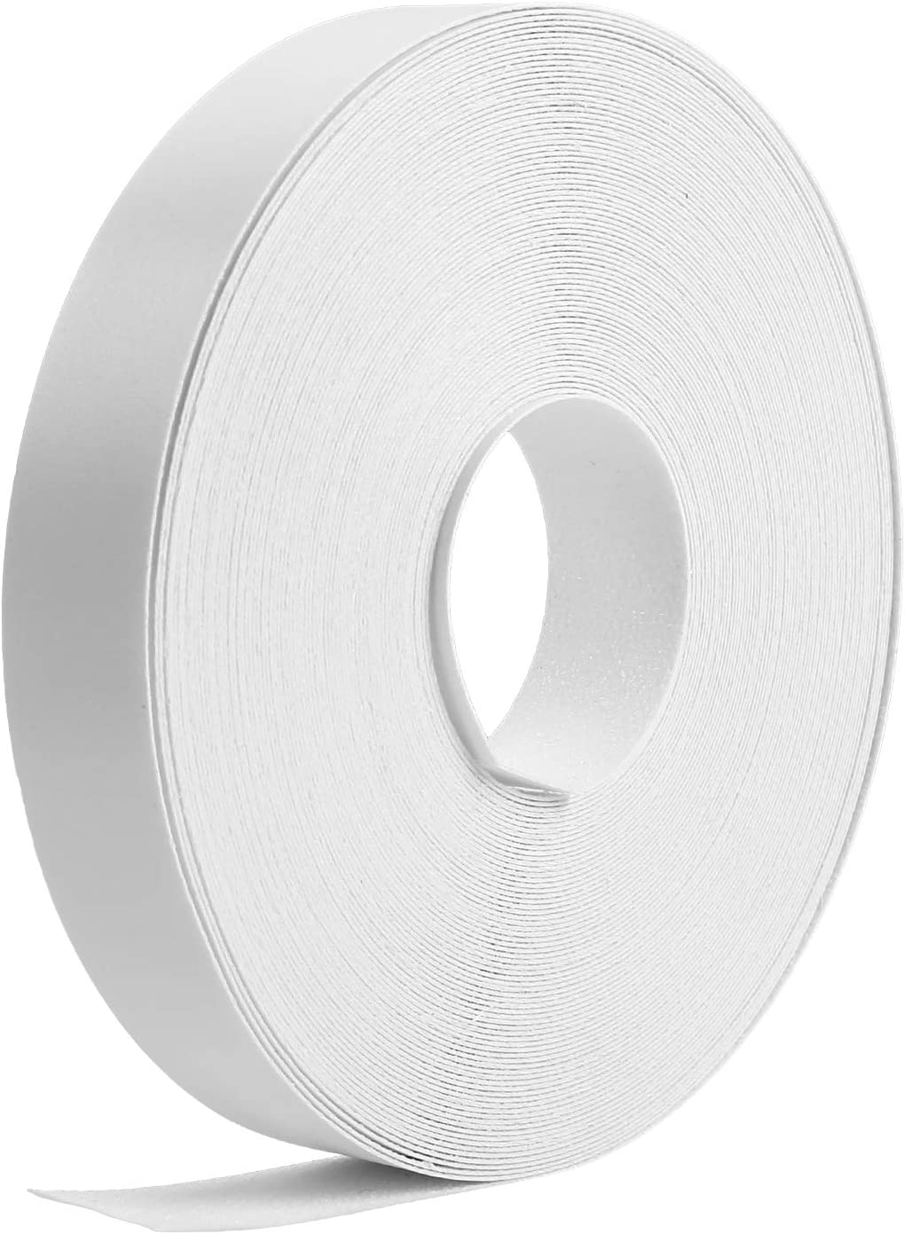 65 Feet Melamine Edging Strip Melamine Tape Iron-on Edgebanding Supplies Flexible Melamine Veneer Roll with Hot Melt Adhesive for Furniture Restoration (3/4 Inch, White)