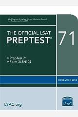 The Official LSAT PrepTest 71 (The Official LSAT PrepTests) Kindle Edition
