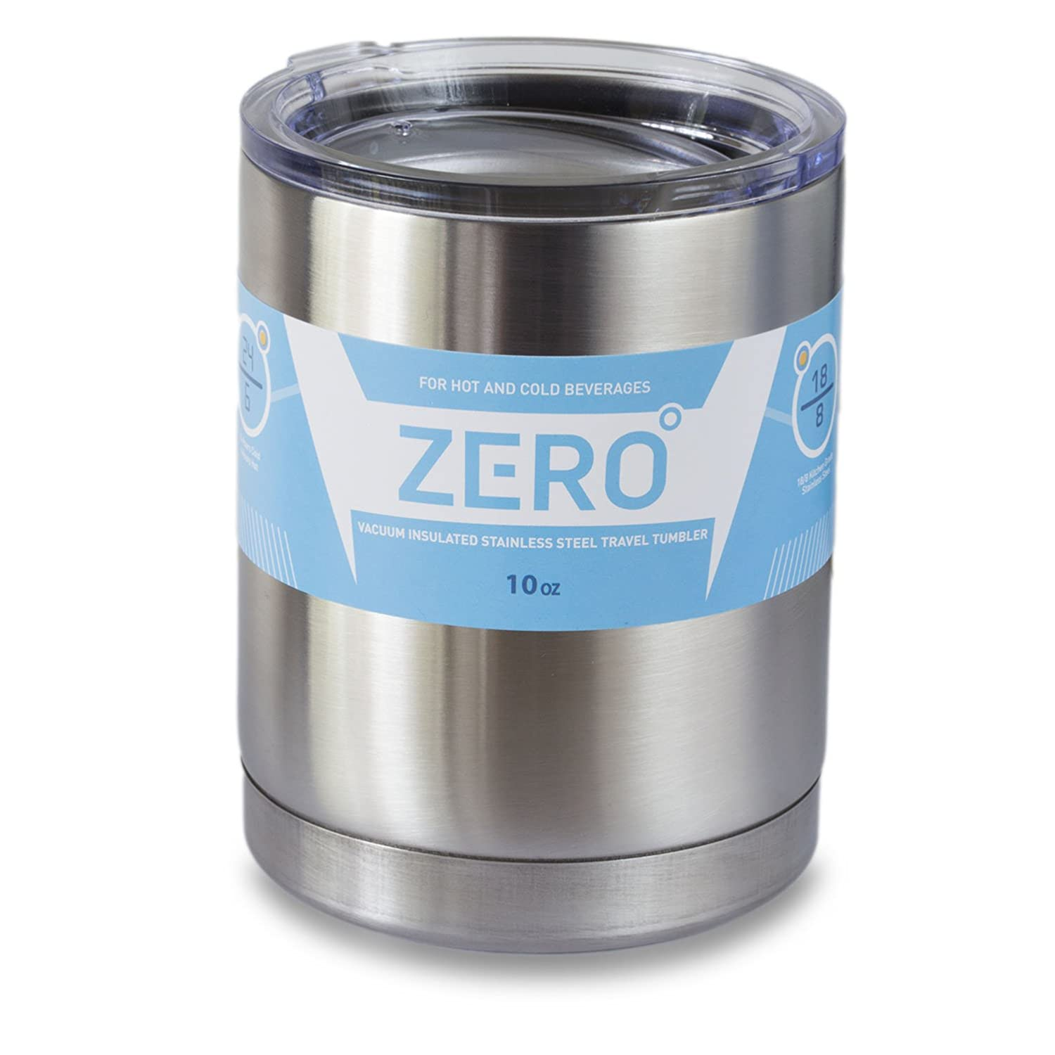 69374b86e8a Stainless Steel Tumbler with Lid, Double Wall Vacuum Insulated Travel Mug,  Perfect Size for a Cup of Coffee, by Zero Degree (10 oz)