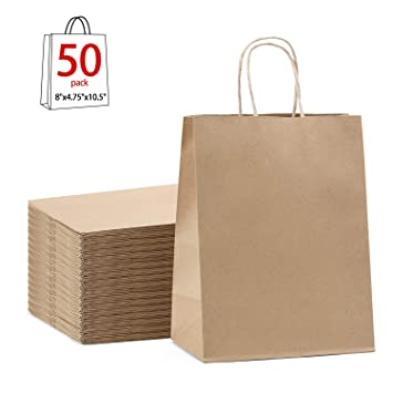8c45891814 Amazon.com  Paper Bags 8x4.75x10.5