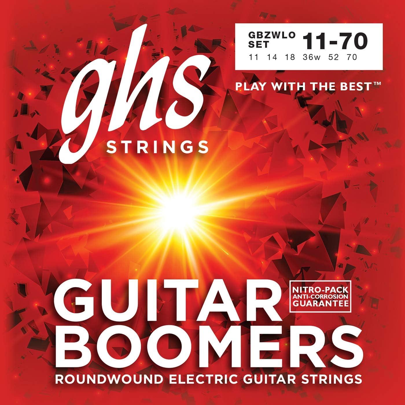 ghs GBZWLO - Juego de cuerdas para guitarra eléctrica, 011-070
