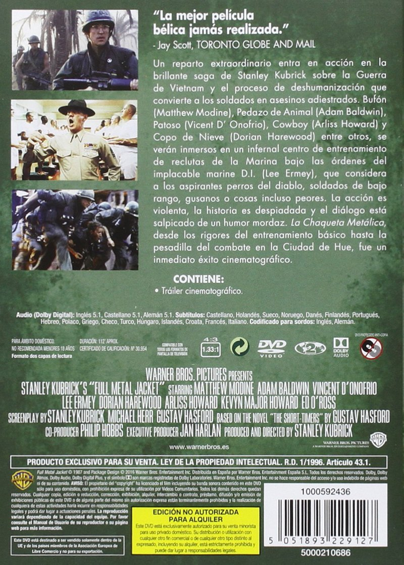 Amazon.com: Kubrick: La Chaqueta Metálica: Movies & TV