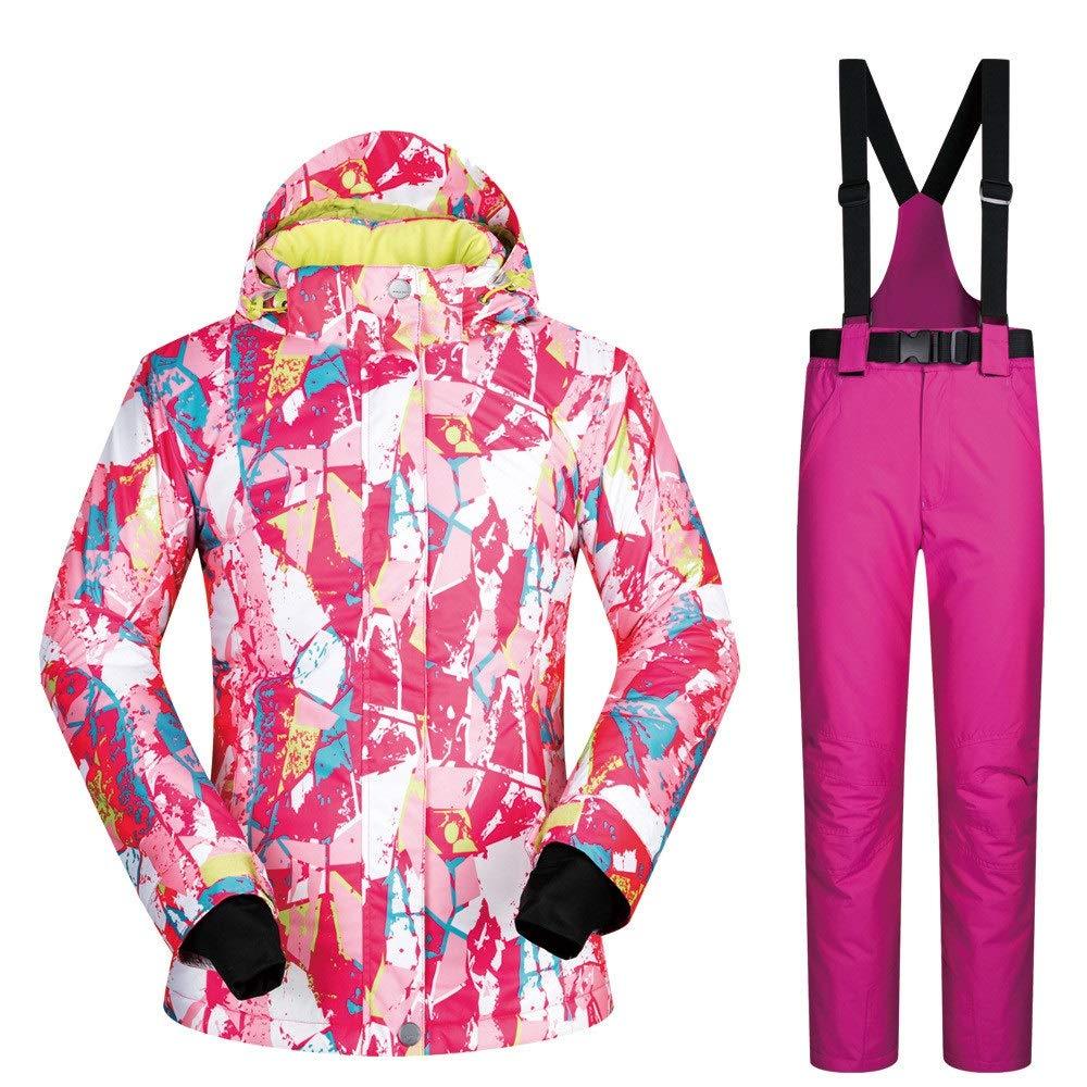Dfghbn Giacca da Sci e Pantaloni Coloreeati Coloreeati Coloreeati da Donna Tuta da Sci da Donna Tuta da Sci Invernale Traspirante, Impermeabile e Traspirante Resistente all'Usura (Coloreee   Powder Pants, Dimensione   XL)B07L9KMYKJX-Large rosa rosso Pants   Trasporto Veloce   3f22c8