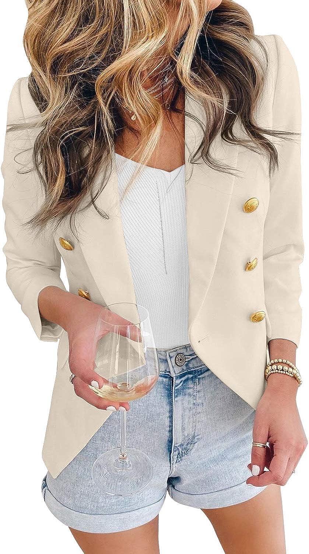 Lovezesent Womens Casual Label Open Front Cardigan Jackets Work Office Blazer Suit