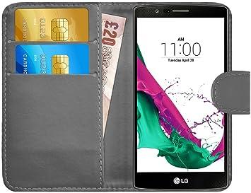 G-Shield Funda LG G4, Carcasa Libro de Cuero con Tapa y Cartera [Ranuras para Tarjetas] [Cierre Magnético] Funda Billetera Case Cover para LG G4 - ...