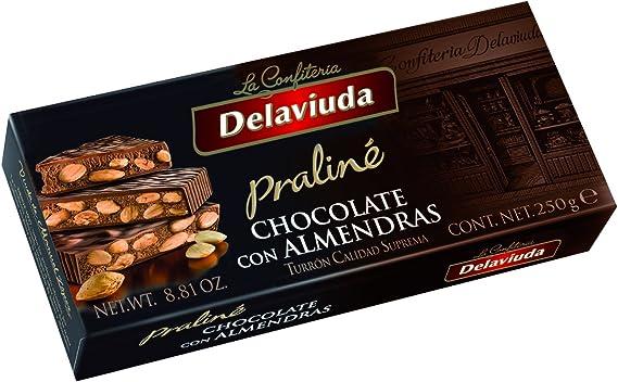 Delaviuda - Turrn Chocolate Almendras, 250 g - [Pack de 5]: Amazon.es: Alimentación y bebidas