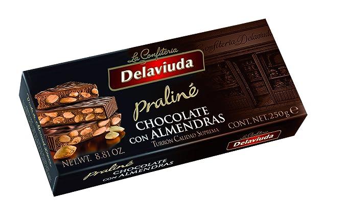 Delaviuda - Turrón Chocolate Almendras, 250 g
