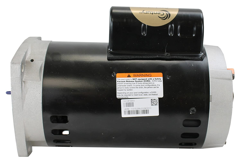 Amazon.com : A. O. Smith Century Electric B855 2-Horsepower 56Y ...