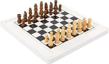 11395 Juego de Mesa de ajedrez y Damas, Small Foot, de Madera, Dos Juegos clásicos en 1, Juego de salón: Amazon.es: Juguetes y juegos