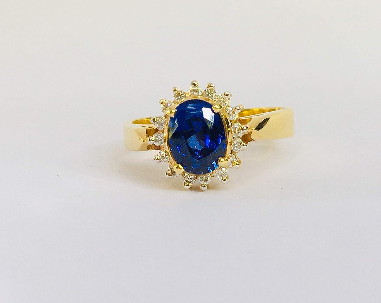 Amazon Com Vintage Blue Sapphire Engagement Ring Sapphire Ring