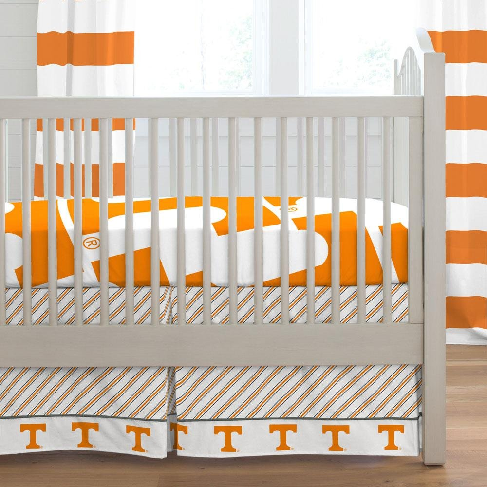 Carousel Designs University of Tennessee Crib Skirt Box Pleat 20-Inch Length