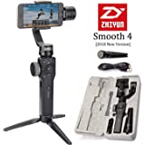 Zhiyun Smooth 4 3-Axis Handheld Gimbal Stabilizer, Upgraded Phone Camera Video Tripod w/Focus Pull&Zoom Vertigo Shot for iPhone Xs Max X/8 Plus/7/SE Samsung Galaxy S9+/S8/S7/S6 etc Smartphones(Black)
