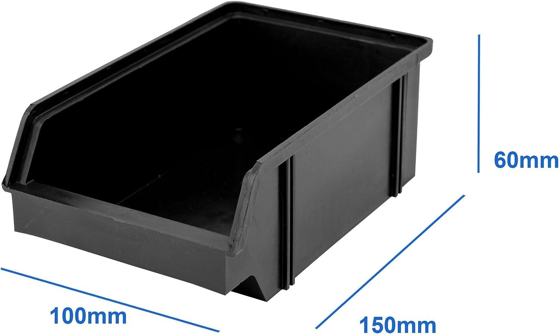 Boites à empiler 9 pièces blanc wandleisten vue Camp Boxe Plastique Box empilable