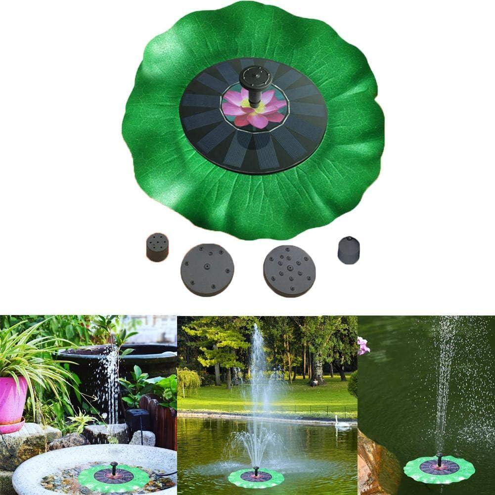 Lotus Solar Bird Bath Fountain Pump,Upgrade 1.4W Solar Pond Fountain with 4 Nozzle,Free Standing Floating Solar Water Fountain Pump for Bird Bath,Pond,Pool,Outdoor,Garden