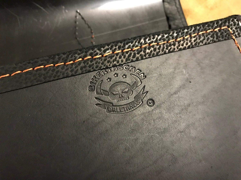 ORLETANOS Muscle Black /& ORANGE Sattelasche kompatibel mit rechte Seite Nightrod Leder Echtleder schwarz orange Edition Black Vrod V-Rod V Rod neu Harley Davidson HD
