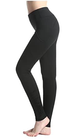 Amazon.com: Lotsyle Women's Pockets Side Yoga Pants Running ...