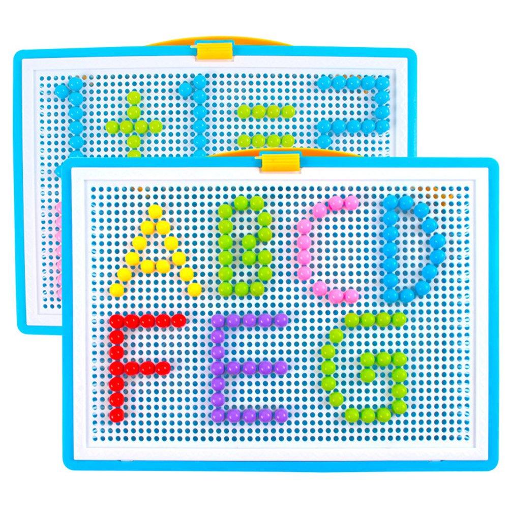 Mosaik Puzzle Spielzeug f/ür Jungen M/ädchen Kinder ab 3 Jahre Mosaikstecker Bausteine Blocks Steckmosaik Steckbilder aus Kunststoff Bunte puzzle Steckspielzeug in Kindergarten Puzzlespiel als Geschenk