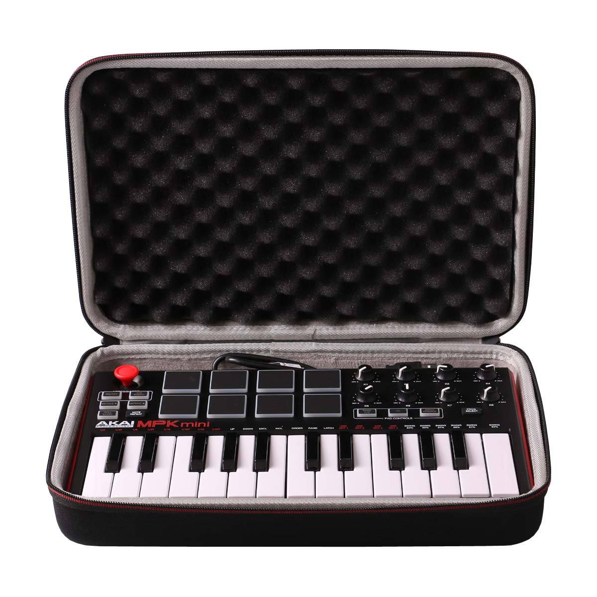 LTGEM EVA Hard Case Travel Carrying Pouch Cover Storage Bag for AKAI Professional MPK Mini MKII 25-Key Portable USB MIDI Keyboard CS105