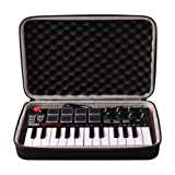 LTGEM EVA Harter Hülle Reise Tragetasche Case für AKAI MPK MINI MKII | 25-Key Ultra-Portable USB MIDI Keyboard and Pad Controller with Joystick