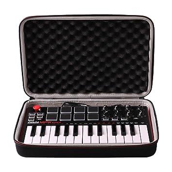 LTGEM EVA Duro Estuche Viajes Funda Bolso para AKAI Professional MPK MINI MKII - Teclado Controlador MIDI USB portátil con 25 teclas: Amazon.es: ...