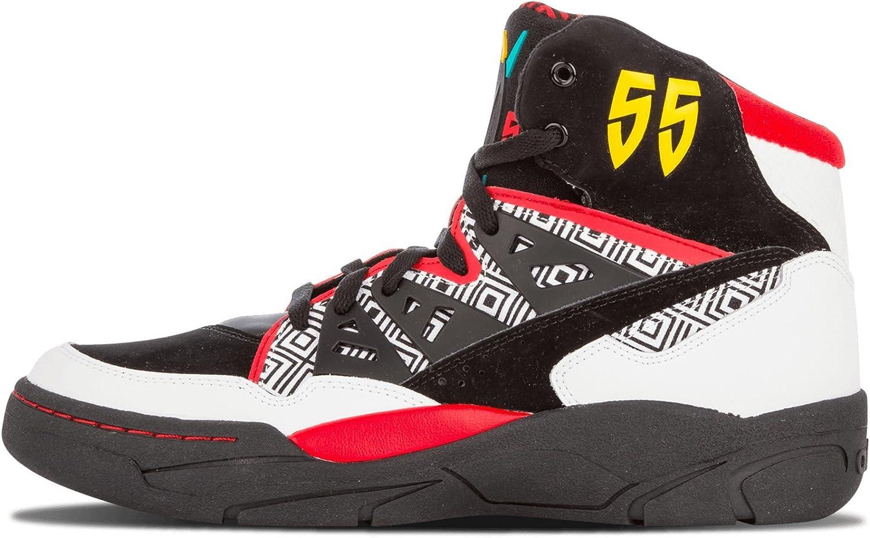 línea audición Discutir  Adidas Mutombo - Running White / Black / Light Scarlet, 9.5 D Us:  Amazon.co.uk: Shoes & Bags