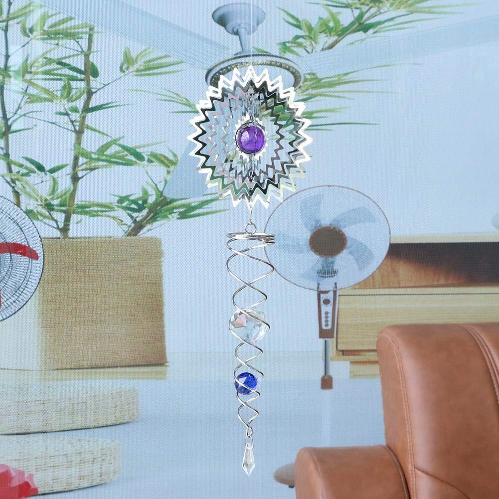 La bola de cristal del acero inoxidable 3D gira la decoraci/ón colgante del jard/ín de la yarda de Bell del viento Matefielduk