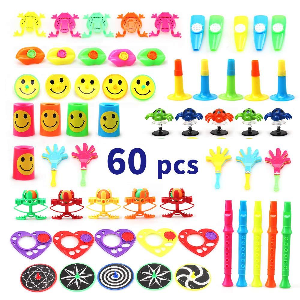 Amy & Benton Surtido de 60 juguetes para rellenar piñatas y bolsas de regalo de fiestas de cumpleaños infantiles o para el colegio 60pcs