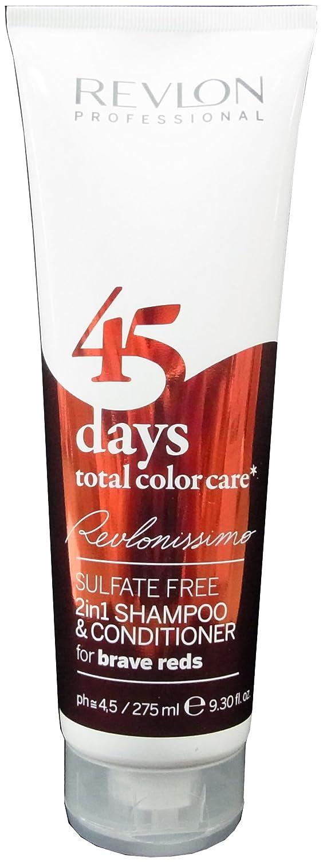 Revlon 45 Days 2en1 For Brave Reds Champú y Acondicionador - 275 ml